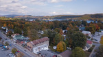 Schroon Lake Fall Foliage Drone
