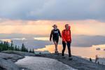 Ampersand Summer Hiking sunset